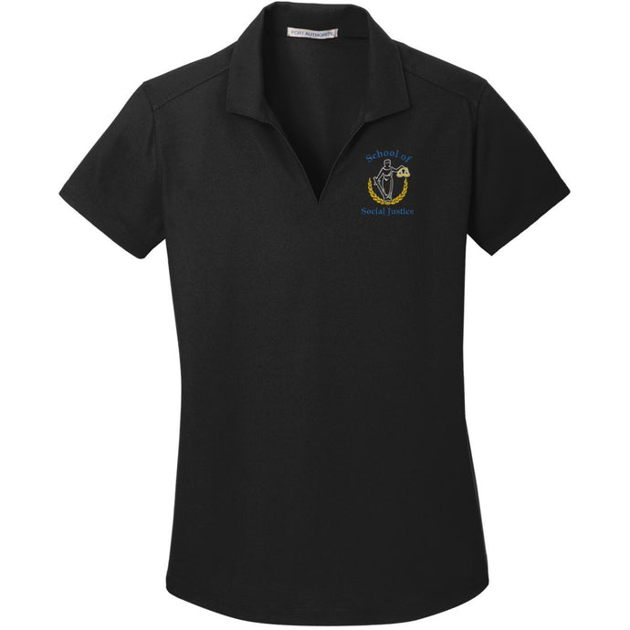 Womens V-Neck Dri-fit Polo w/MCS logo