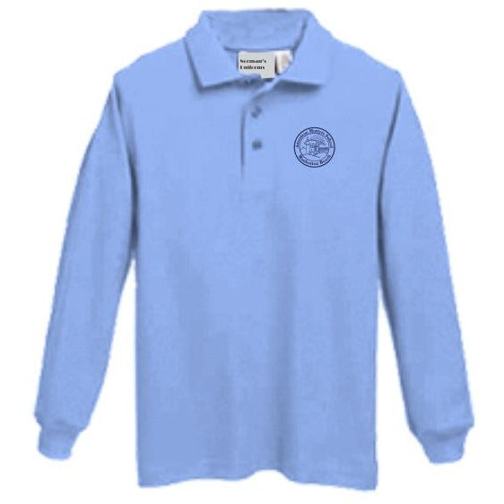 Long Sleeve Knit Polo w/American Martyrs logo
