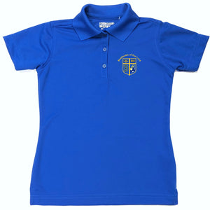 Girls Fitted Dri-fit Polo w/Beatitudes logo