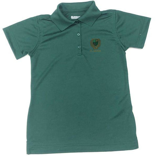 Girls Fitted Dri Fit Polo w/ St. Theresa logo