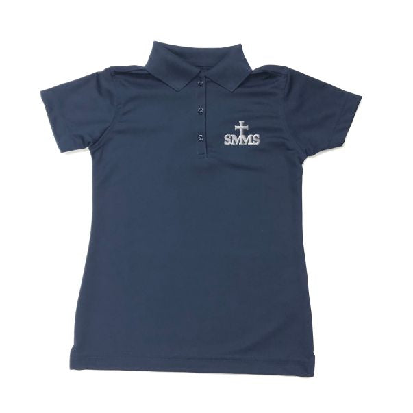 Girls Fitted Dri Fit Polo w/ St. Margaret Mary logo