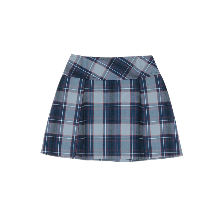 Drop Yoke Skort – Santa Fe Plaid
