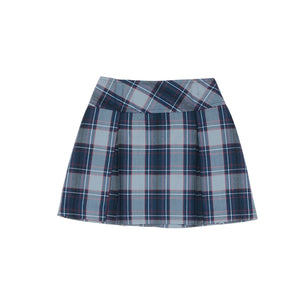 Drop Yoke Skort – Bethany Plaid