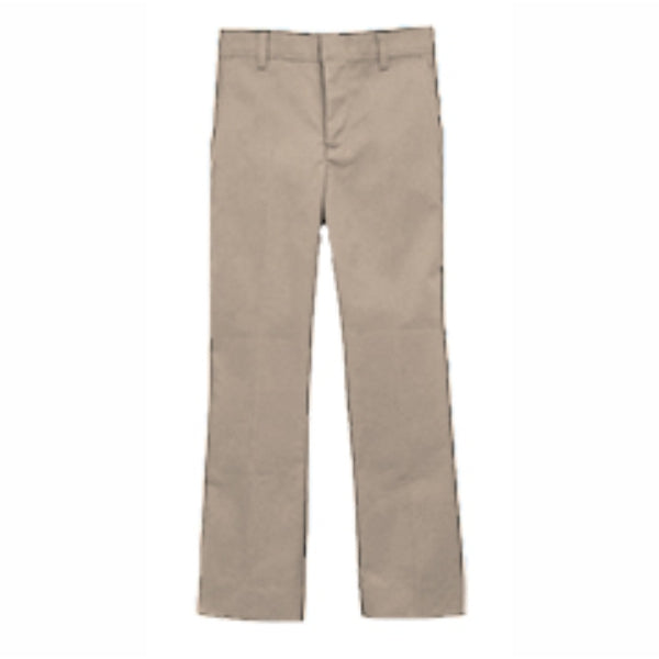 Boy's Flat Front Pants - Khaki (Grades PS,6-8)