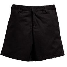 Girl's Flat Front Shorts - Black