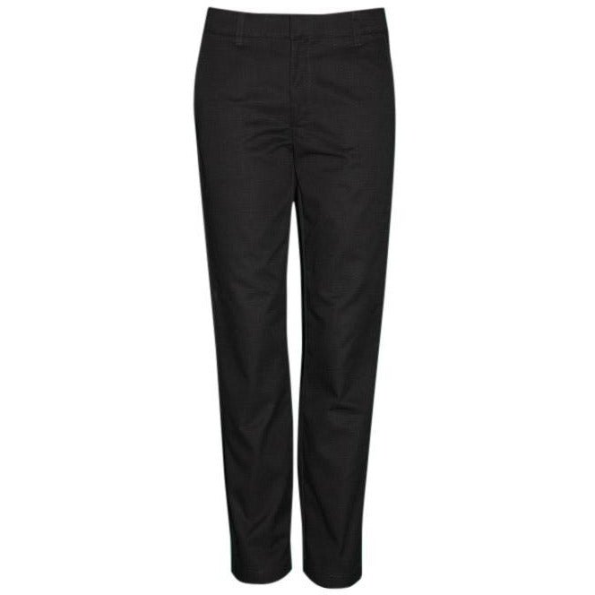 Girl's Flat Front Pants - Black (Grades 6-12)