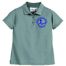 Load image into Gallery viewer, Girls Fitted Knit Polo w/Bethany logo