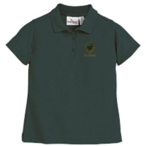 Girls Fitted Knit Polo w/ St. Theresa logo