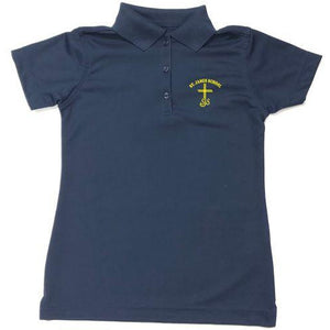 Girls Fitted Dri Fit Polo w/ St. James logo