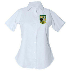 Women's Fitted Oxford Shirt w/Hilary logo (Grades 5-8)