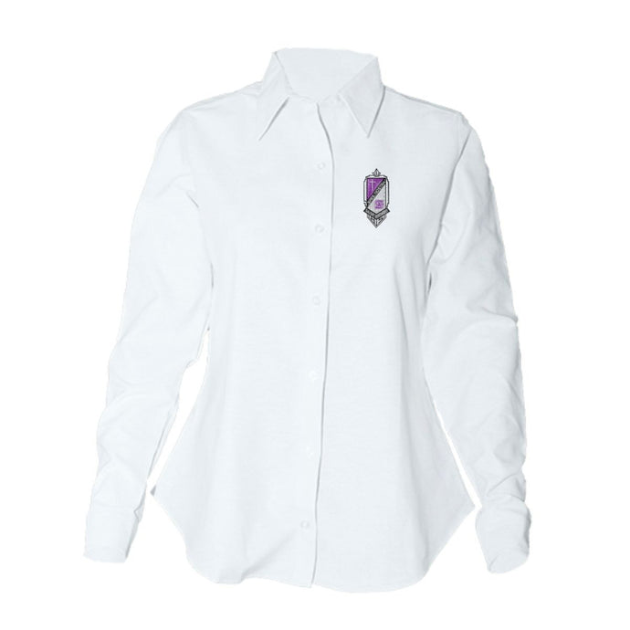 Women's Fitted L/S Oxford Shirt w/St. Anthony High logo