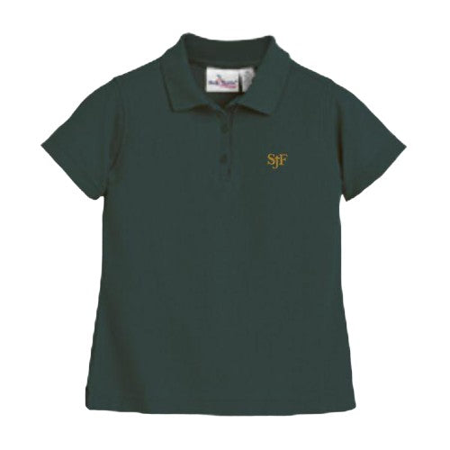 Girls Fitted Knit Polo w/ St. John Fisher logo