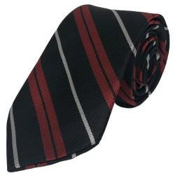 Tie - Red/Black Striped Palm Valley