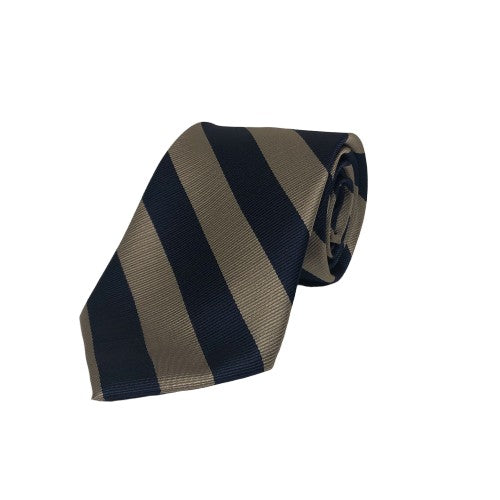Tie - Khaki/Navy Striped