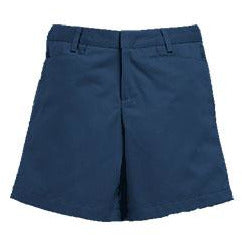 Girl's Flat Front Shorts - Navy