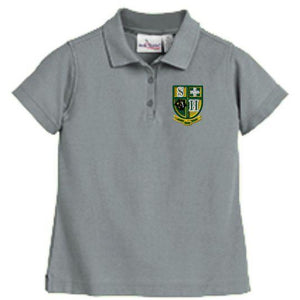 Girls Fitted Knit Polo w/Hilary logo