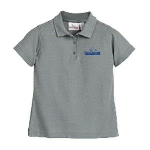 Girls Fitted Knit Polo w/ Pacific Harbor logo
