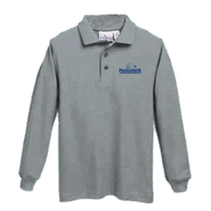 Long Sleeve Knit Polo w/ Pacific Harbor logo
