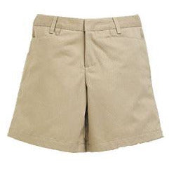 Girl's Flat Front Shorts - Khaki (Grades PS,6-8)