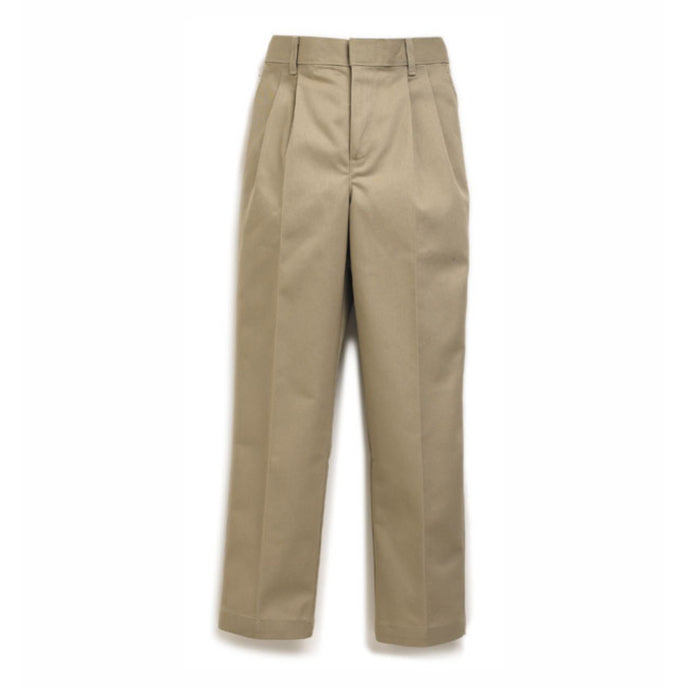 Boy's Pleated Pants - Khaki (Grades PS,6-8)