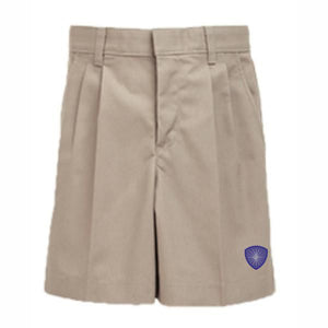 Boys Pleated Shorts w/ Desert Christian logo
