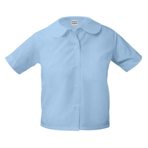 Light Blue Peter Pan Blouse