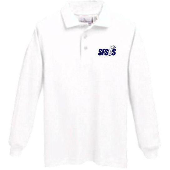 Long Sleeve Knit Polo w/ Santa Fe Springs logo