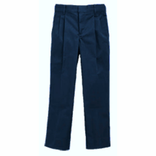 Boy's Pleated Pants - Navy (Grades K-5)