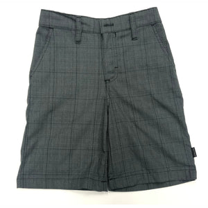 Boys Shorts - Grey Plaid (Grades 2-8)