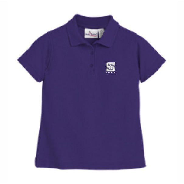 Girls Fitted Knit Polo w/SAHS logo