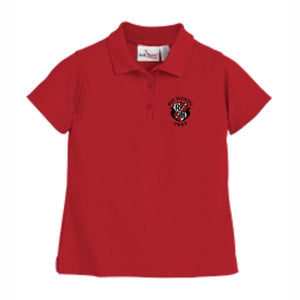 Girls Fitted Knit Polo w/Rio Hondo logo