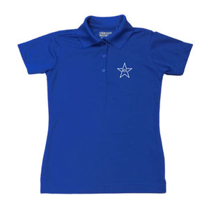 Girls Fitted Dri Fit Polo w/Mary Star Elementary logo