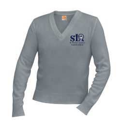 V-Neck Sweater w/St. Thomas logo
