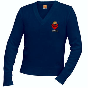 V-Neck Sweater w/ St. Margaret Mary logo