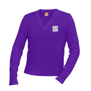 V-Neck Sweater w/St. Anthony High Embroidered logo