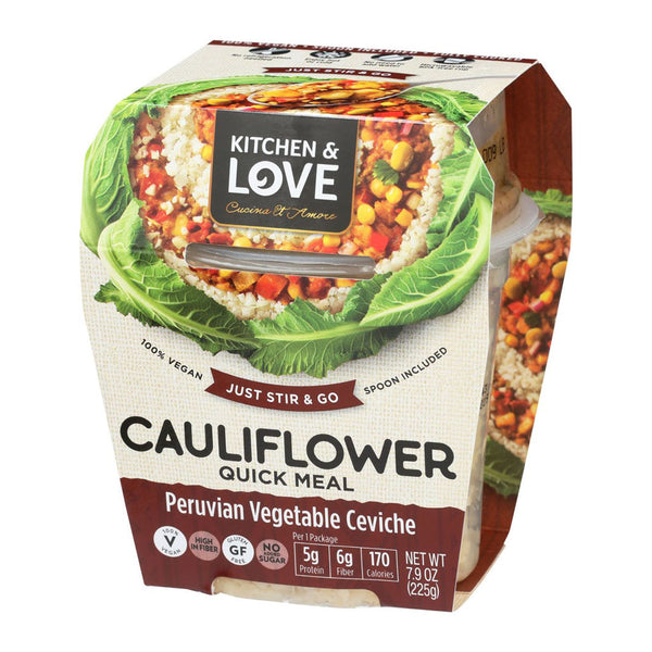 Cauliflower Quick Meal Peruvian Vegetable Ceviche