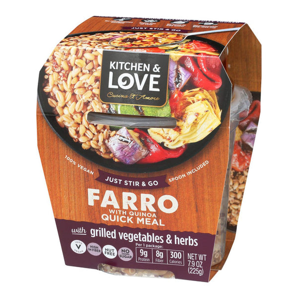 Farro with Quinoa Quick Meal with Grilled Vegetables & Herbs
