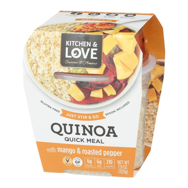 Quinoa Quick Meal with Mango & Roasted Peppers
