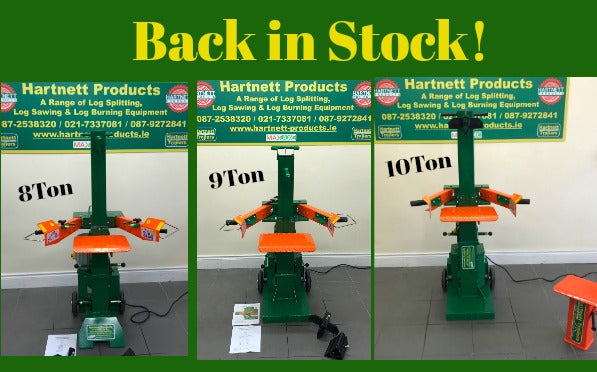 Back in stock - full range of electric log splitters