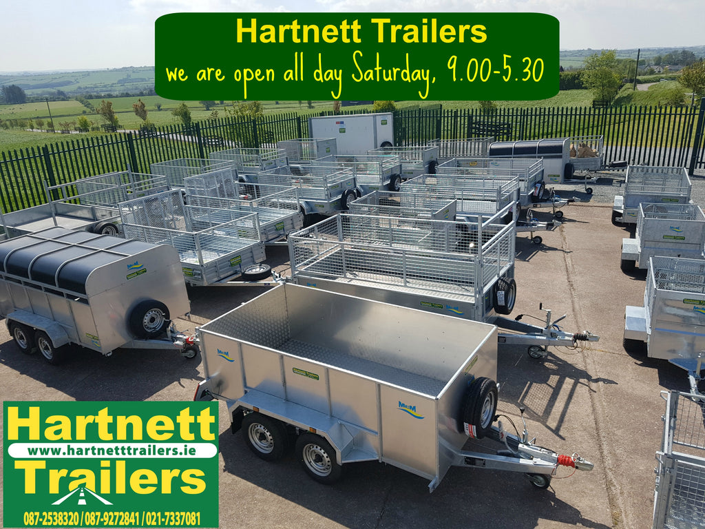 Hartnett Trailers - open all day every Saturday