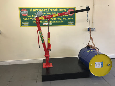 mobile lifting crane for mounting to trailer