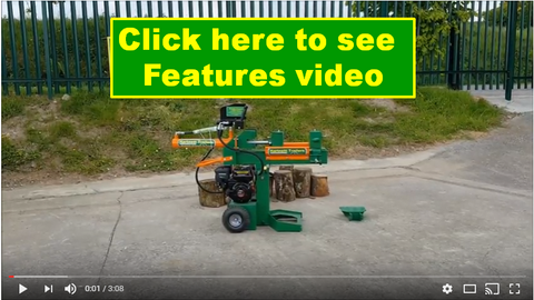 12 ton log splitter features video