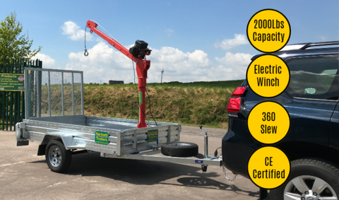 2,000 Lbs Mobile Lifting Cranes (Electric Winch)