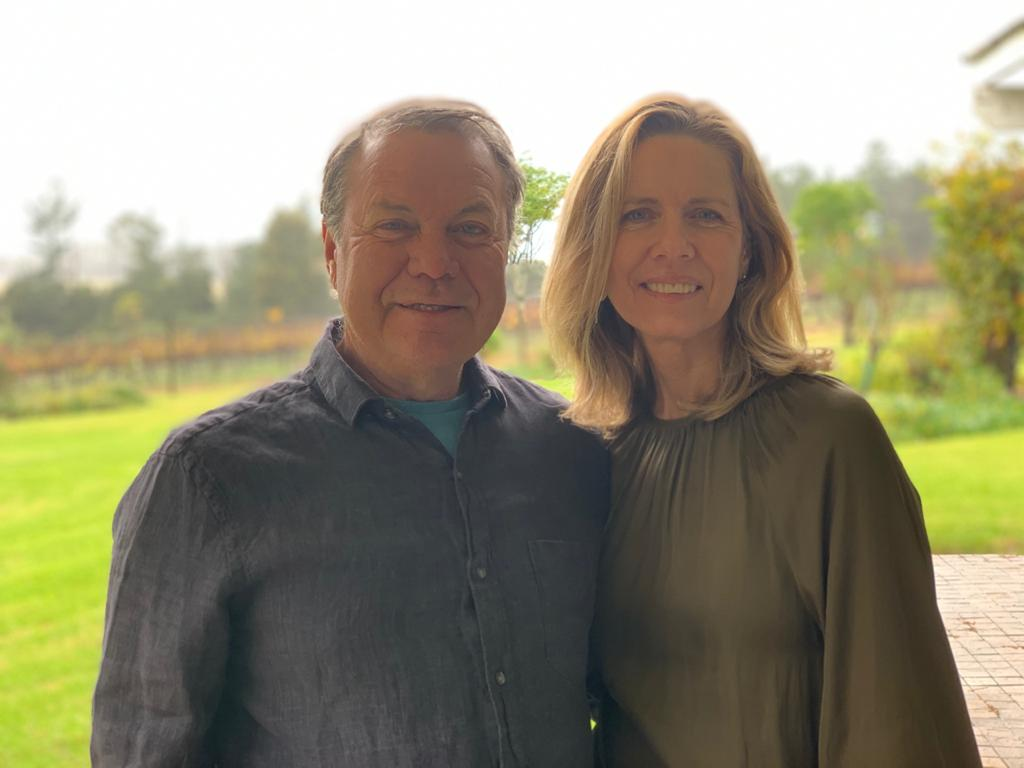 Phil and Laura Harvey, owners of Luka Vineyards