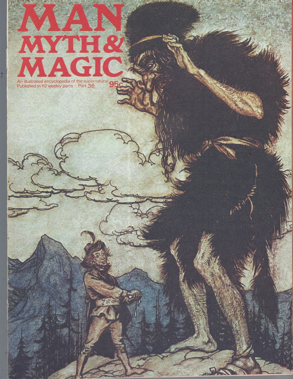 Man, Myth and Magic Part 36 Magazine by Richard Cavendish 1970