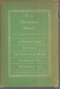 HERITAGE PRESS: Five Christmas Novels by Charles Dickens Hardcover 1939