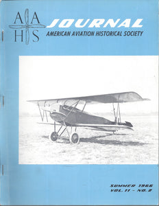 AAHS Journal Summer 1966 Volume 11-No. 2 Fokker D-IX
