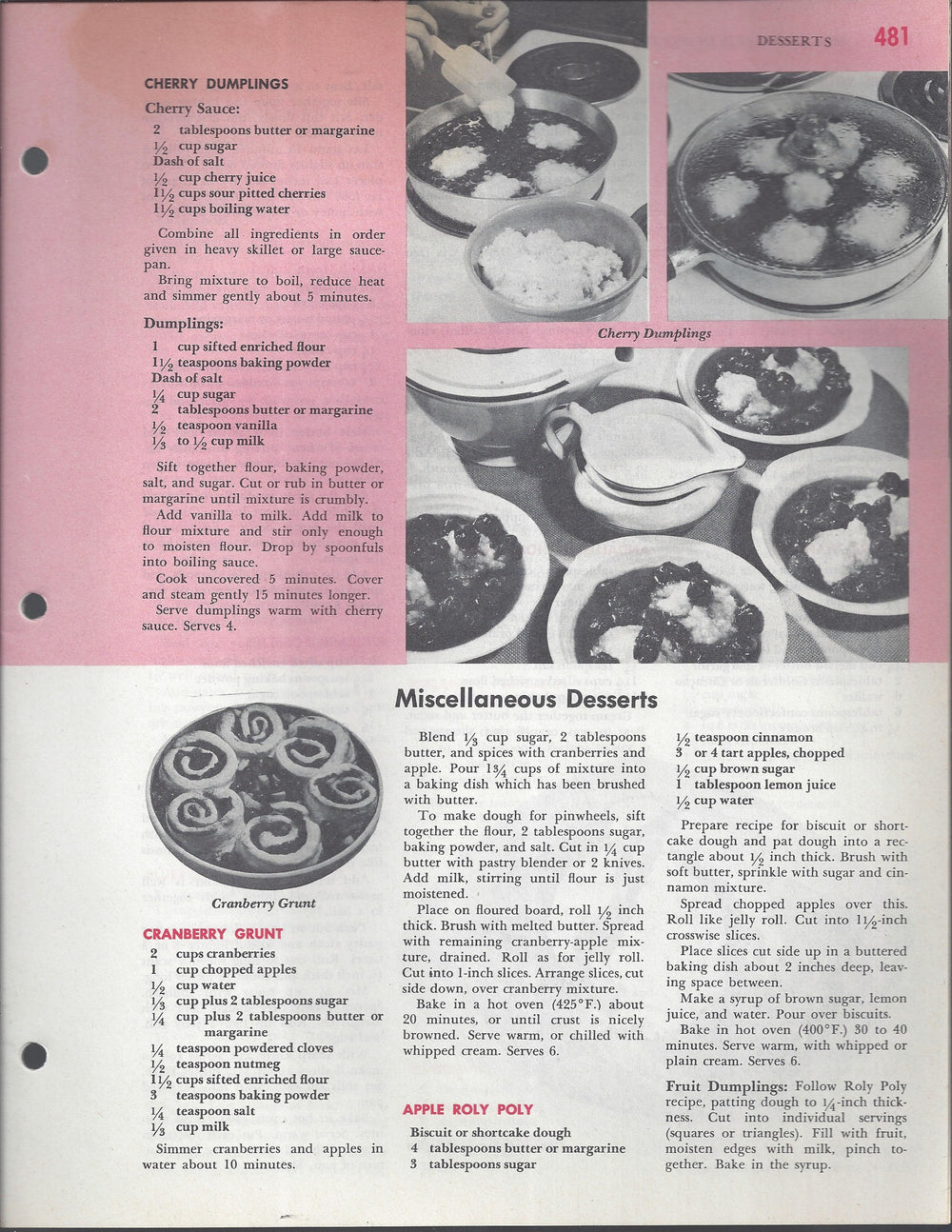 Mary Margaret McBride Encyclopedia of Cooking Cook Book Deluxe Edition 1960 (2ND EDITION) (PAGES 481-512)