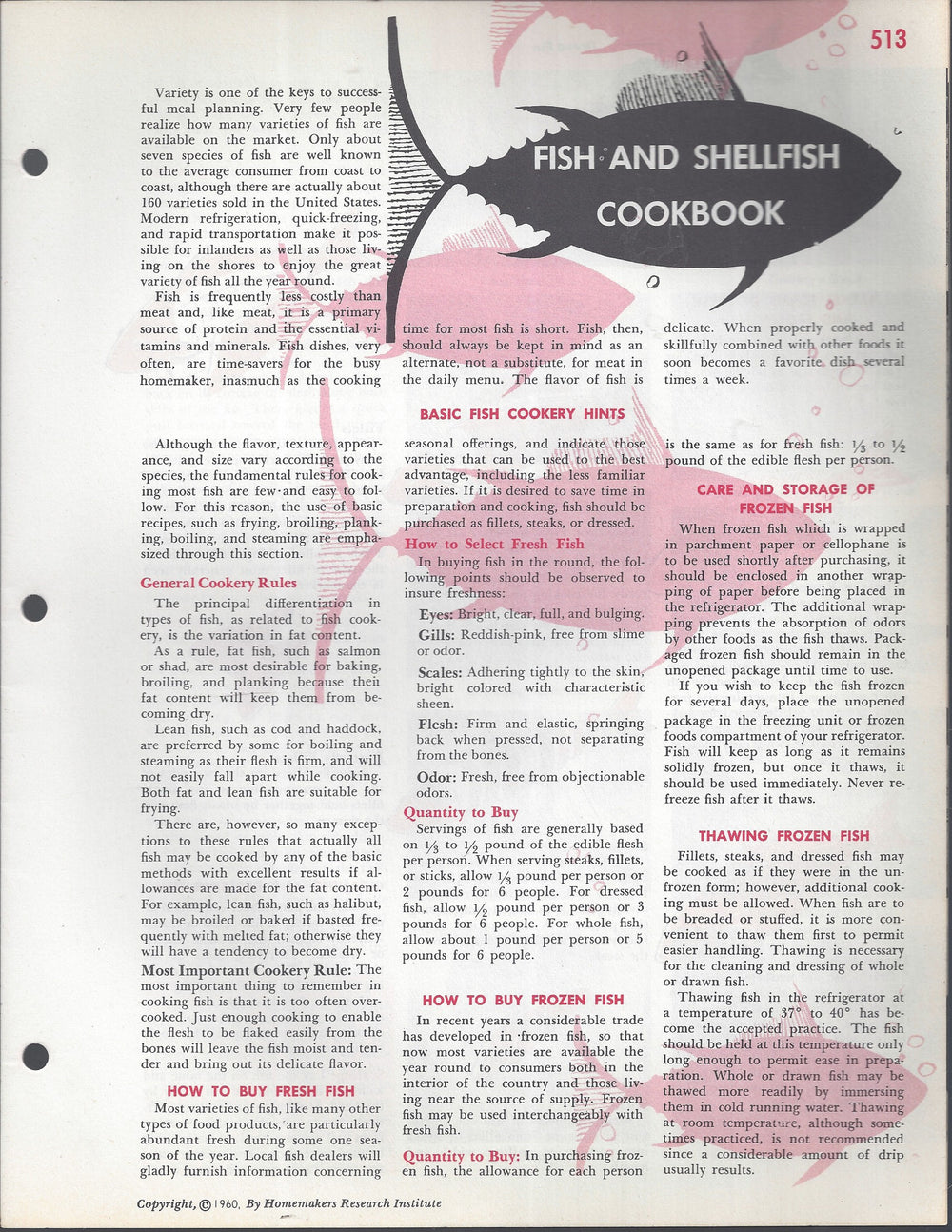 Mary Margaret McBride Encyclopedia of Cooking Cook Book Deluxe Edition 1960 (2ND EDITION) (PAGES 513-544)