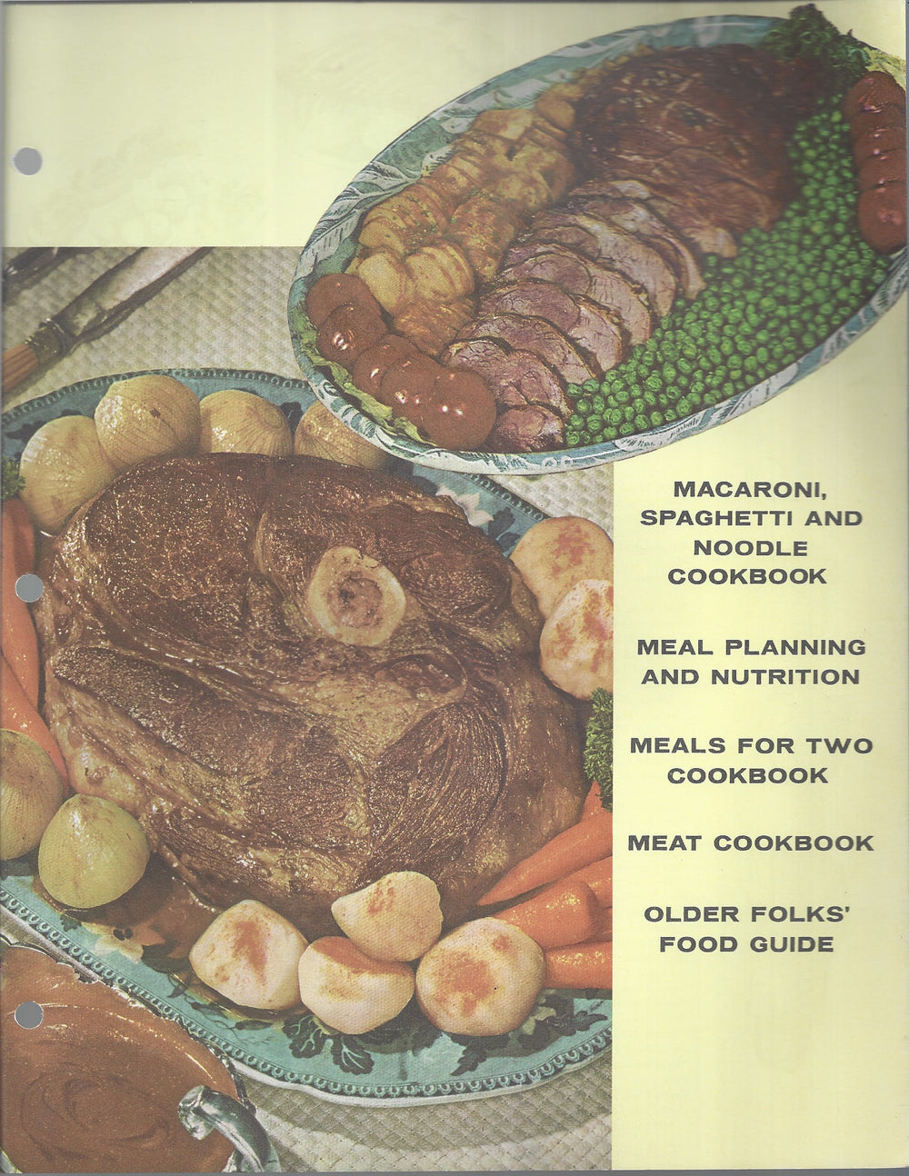 Mary Margaret McBride Encyclopedia of Cooking Cook Book Deluxe Edition 1960 (2ND EDITION) (Cover Page-Macaroni, Spaghetti-Older Folks Food)